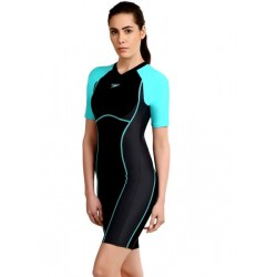 Speedo Women's Essential Spliced Kneesuit Swimsuit