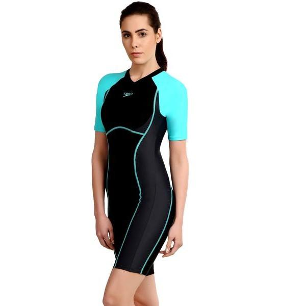 Speedo Women's Essential Spliced Kneesuit Swimsuit