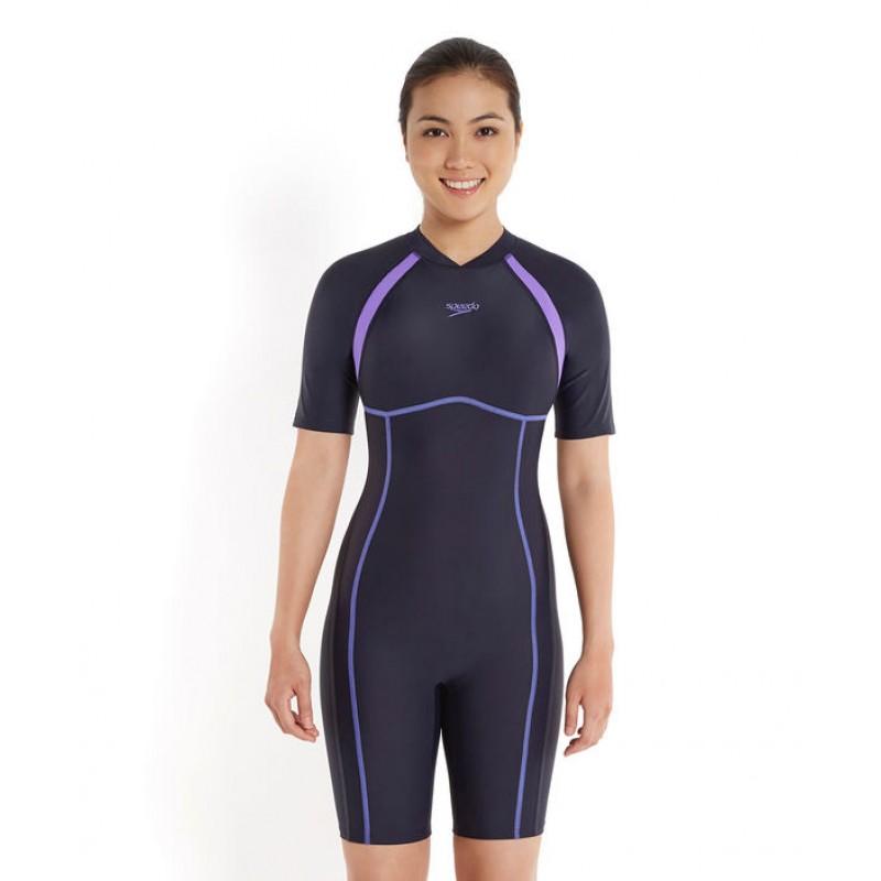 421049eb185fd Speedo Women s Essential Spliced Kneesuit Swimsuit